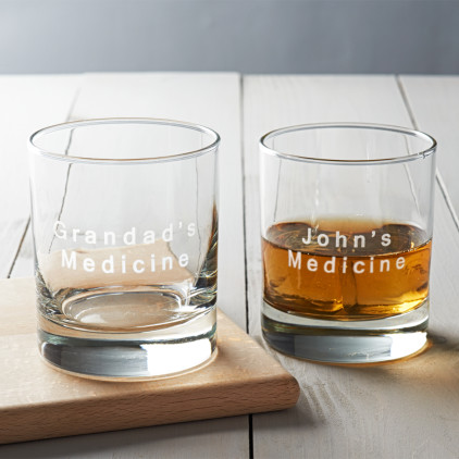 Personalised 'Medicine' Drinks Glass