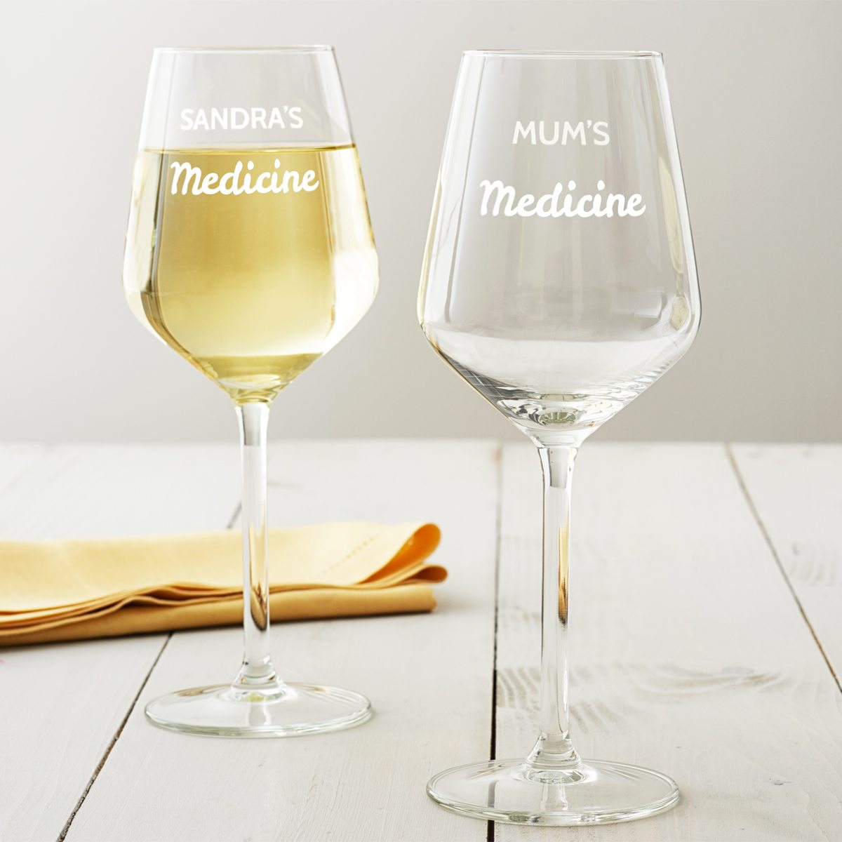 Personalised 'Medicine' Wine Glass