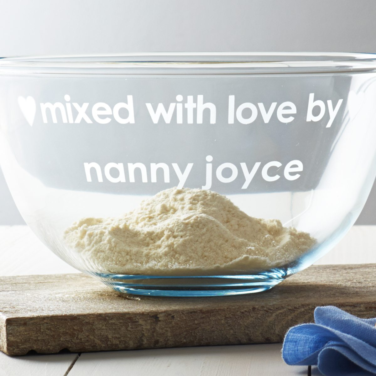 Personalised 'Mixed With Love' Bowl