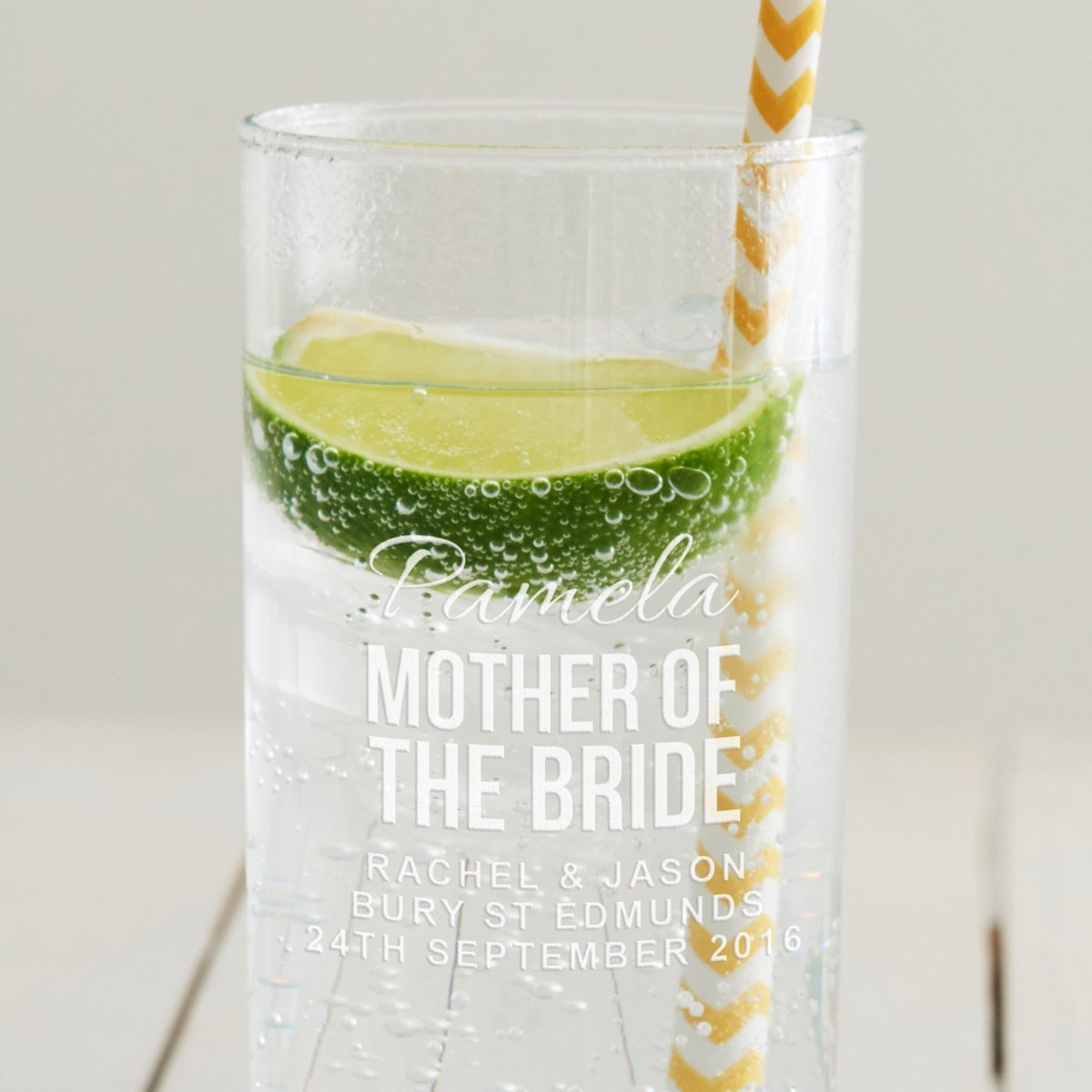 Personalised Mother Of The Bride Hi Ball Glass
