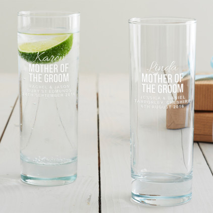 Personalised Mother Of The Groom Hi Ball Glass