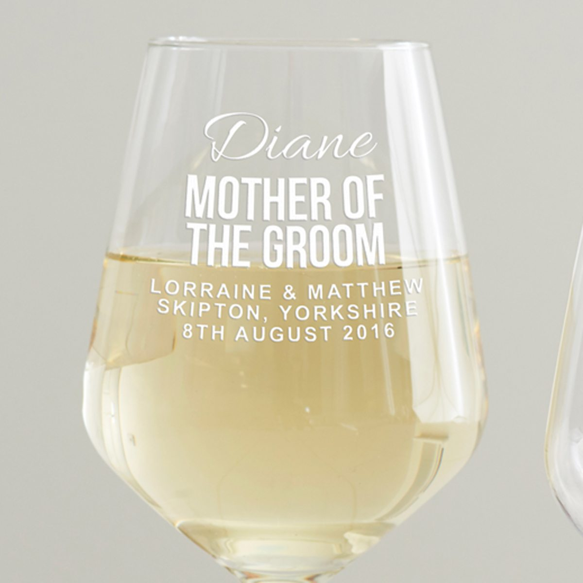 Personalised Mother Of The Groom Wine Glass