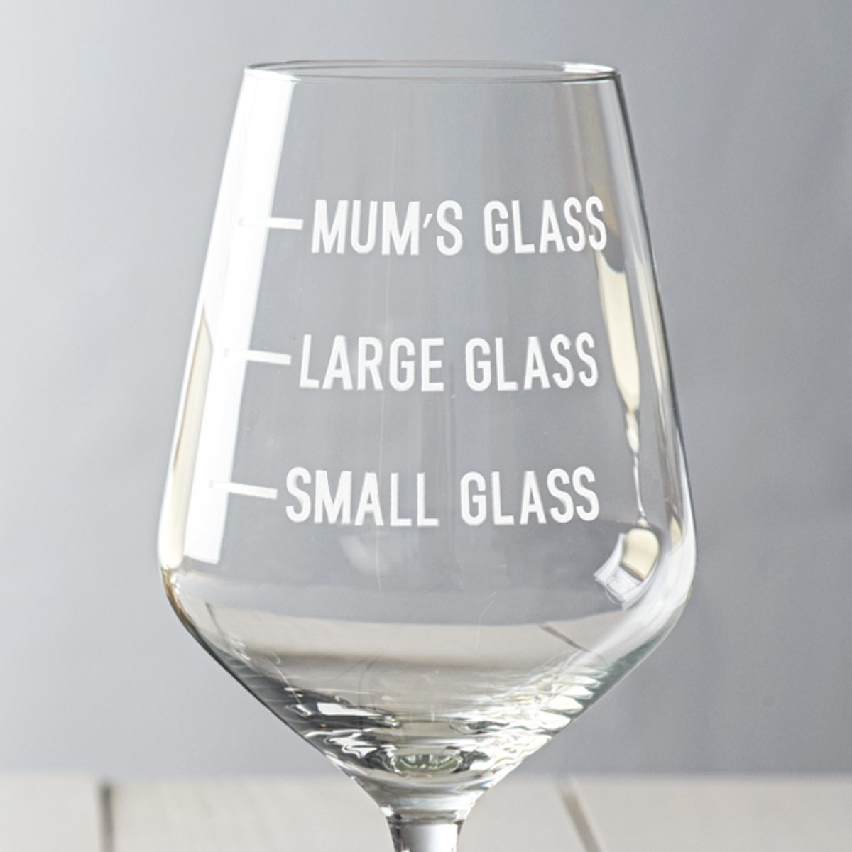 19c06dfea52 Personalised Mum's Measure Wine Glass - Becky Broome Becky Broome