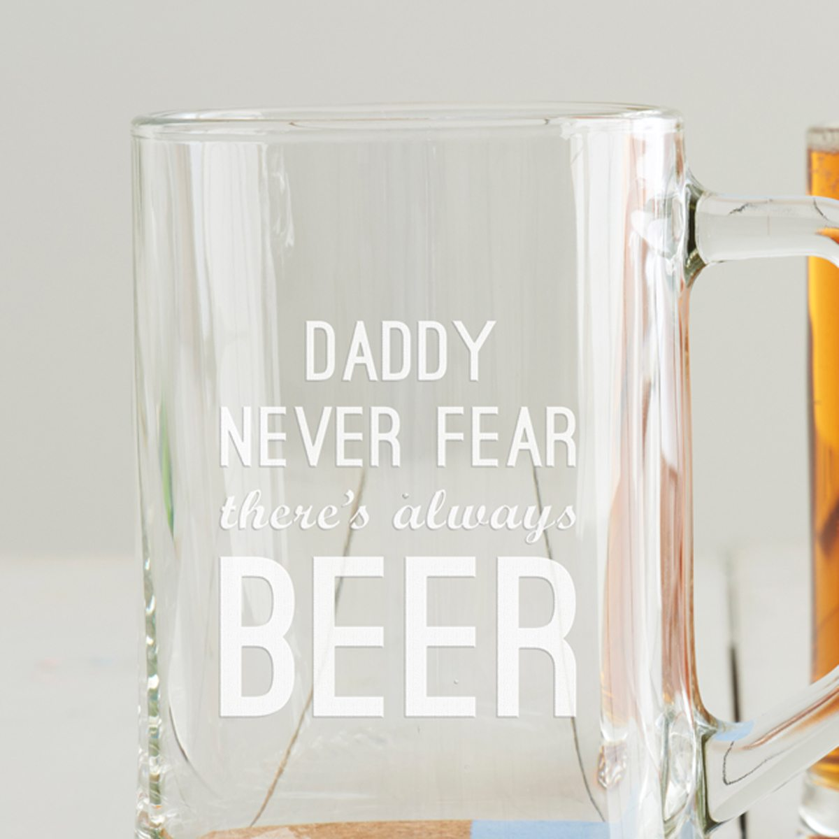Personalised 'Never Fear' Beer Tankard
