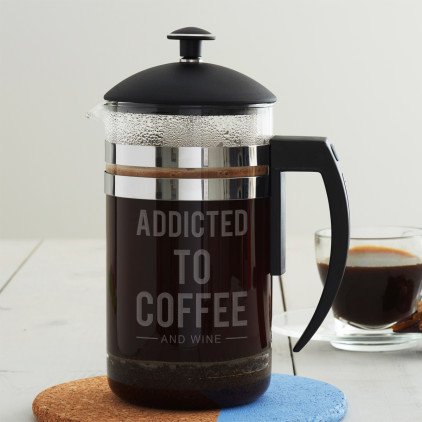 Personalised 'Addicted To' Cafetiere