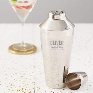 Personalised 'Cocktail King' Cocktail Shaker