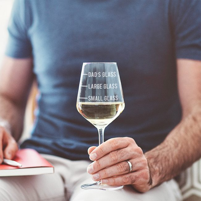 Personalised Dad's Measure Wine Glass