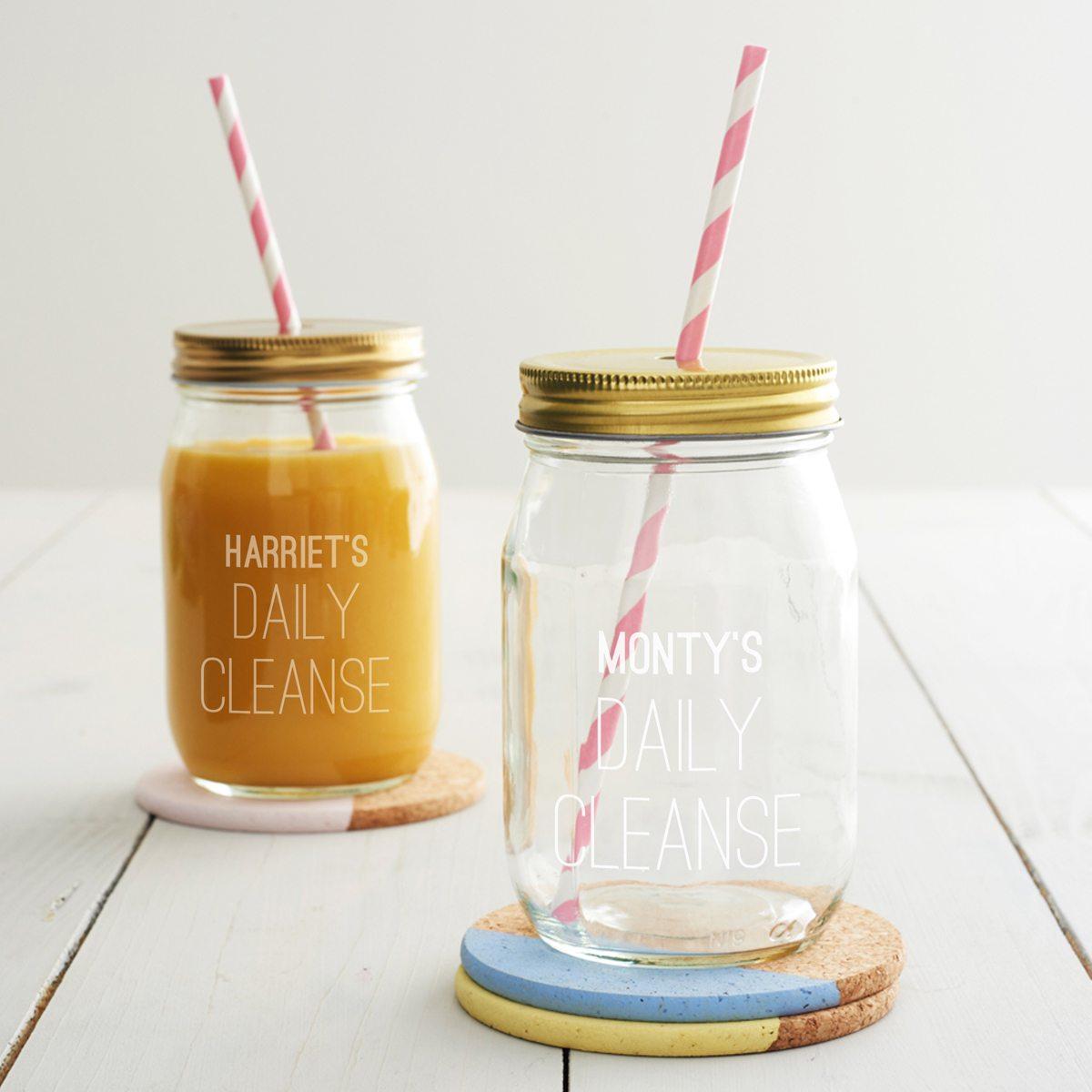 Personalised Daily Cleanse Juice Jar