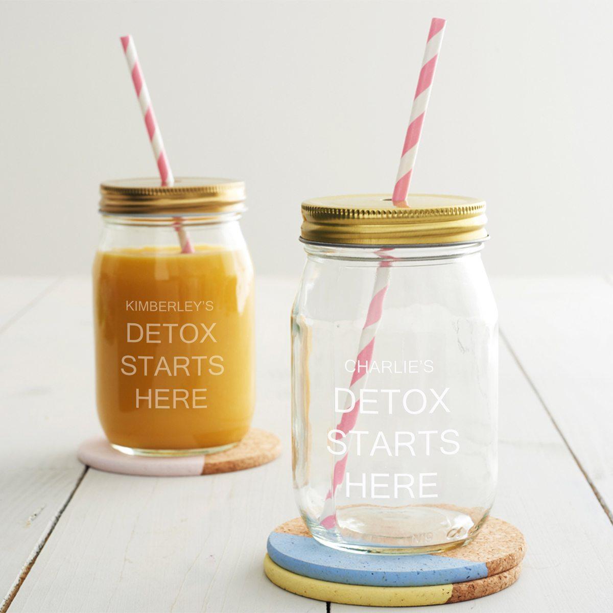 Personalised Detox Juice Jar