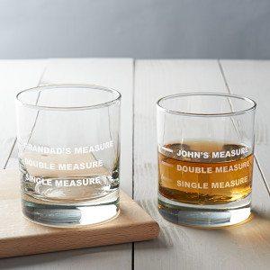 Personalised Drinks Measure Glass