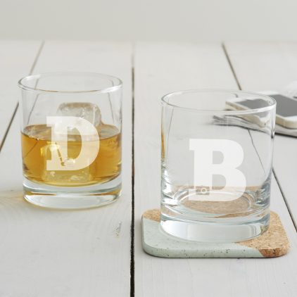 Personalised Hobby Monogram Tumbler Glass