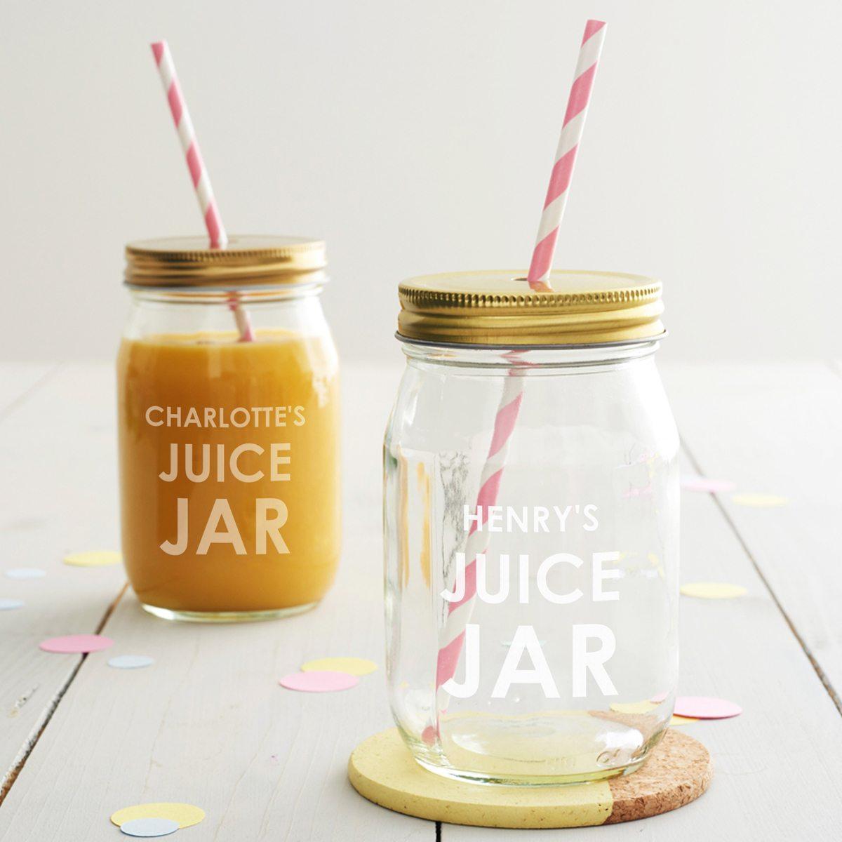Personalised Juice Jar
