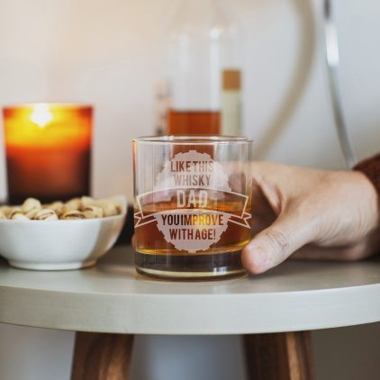 Personalised Like This Tumbler Glass Lifestyle