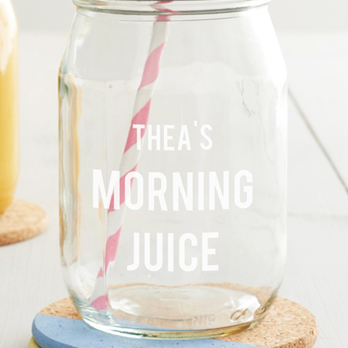 Personalised Morning Juice Jar