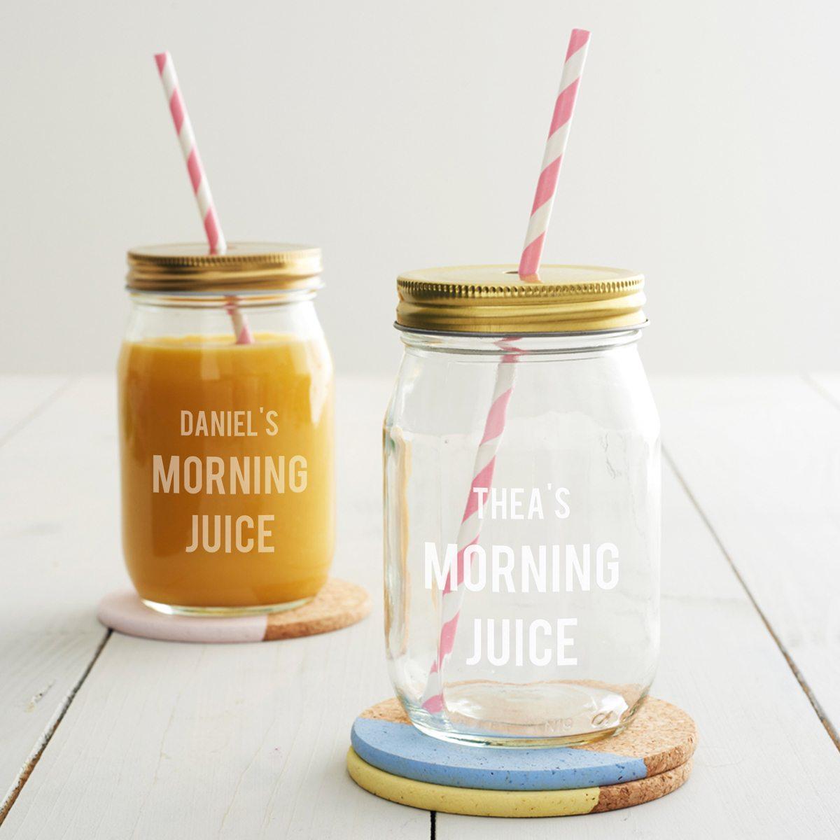 Personalised Morning Juice Jar