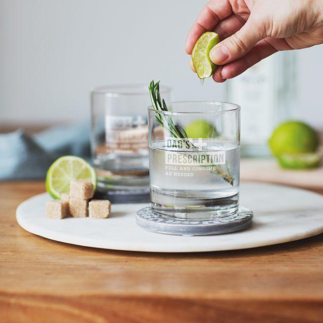 Personalised Prescription Tumbler Glass