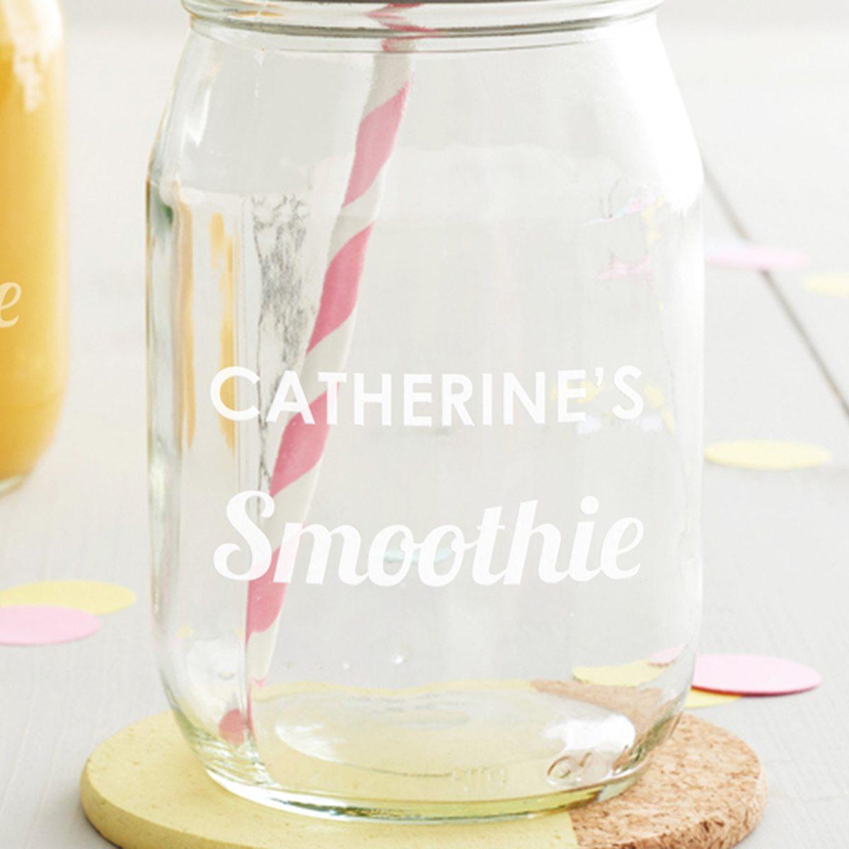 Personalised Smoothie Jar