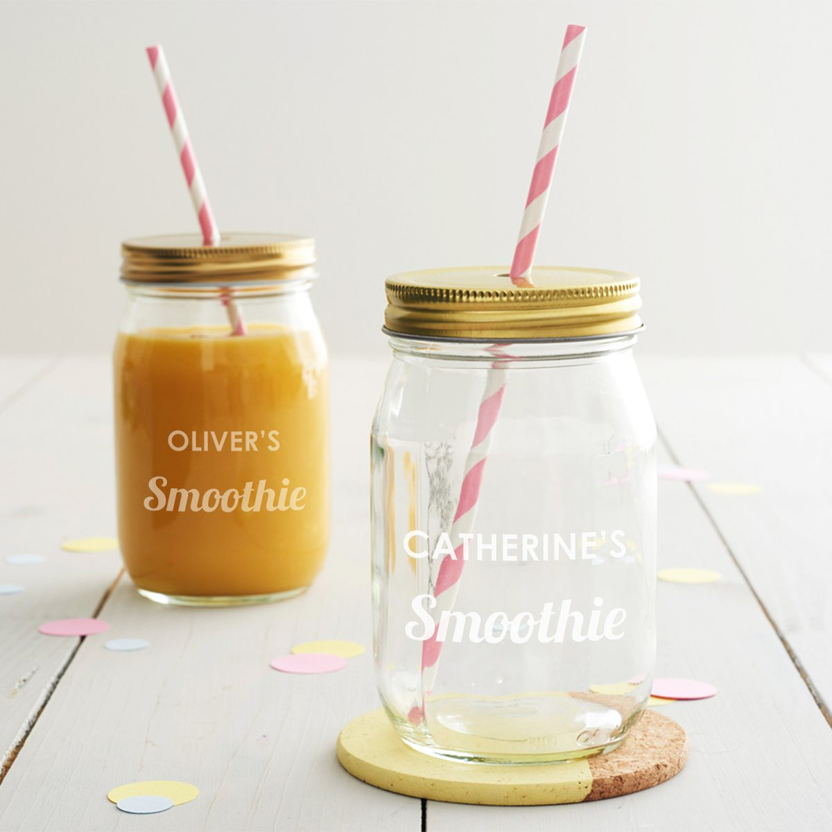 Personalised Smoothie Jar