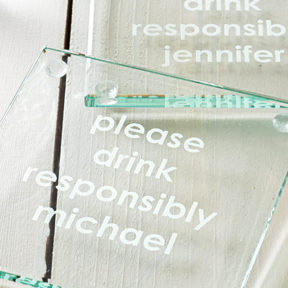 Personalised 'Please Drink Responsibly' Coaster