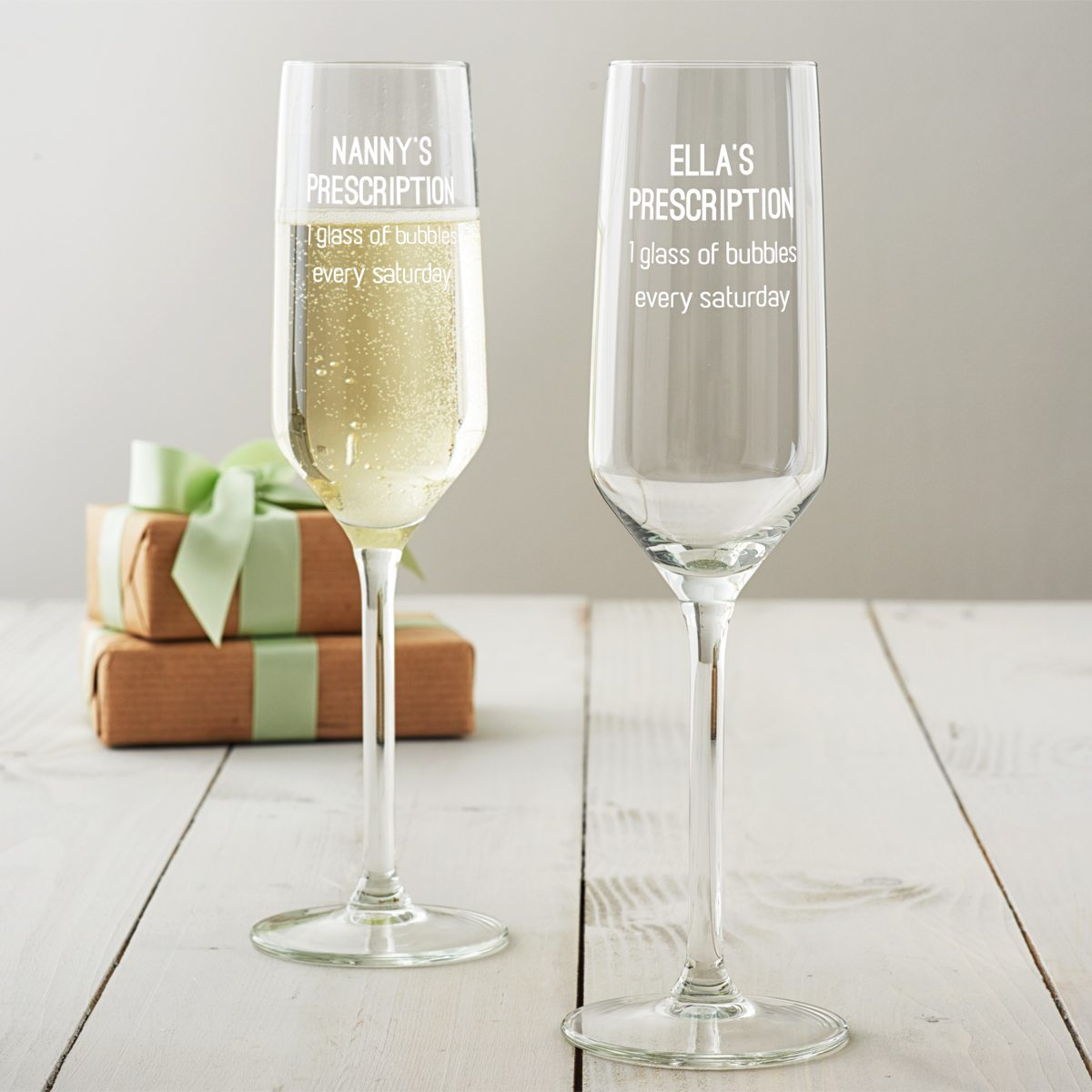 Personalised Prescription Champagne Flute