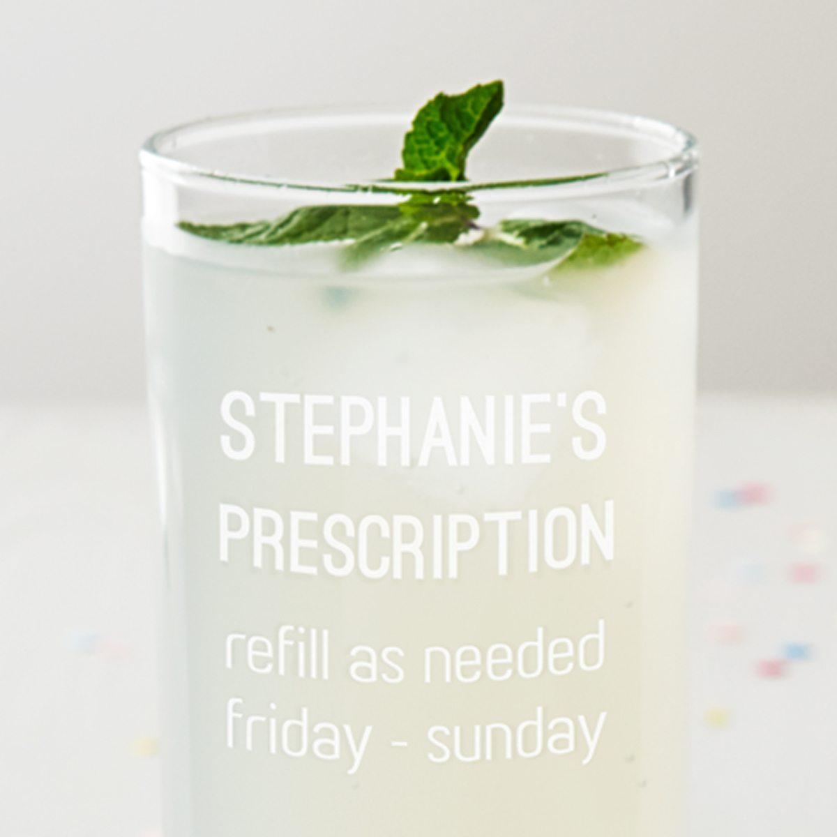 Personalised Prescription Hi Ball Glass
