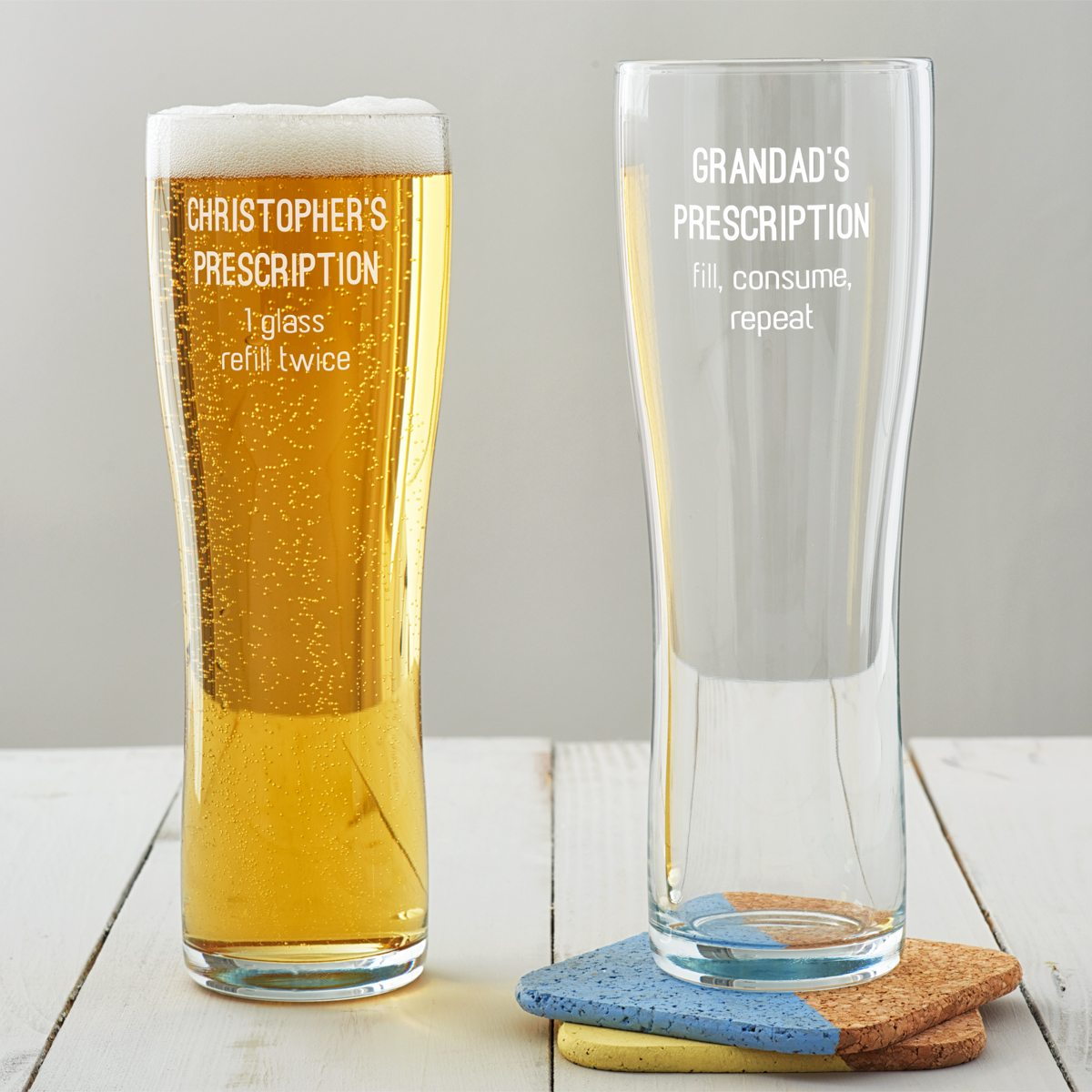 Personalised Prescription Pint Glass