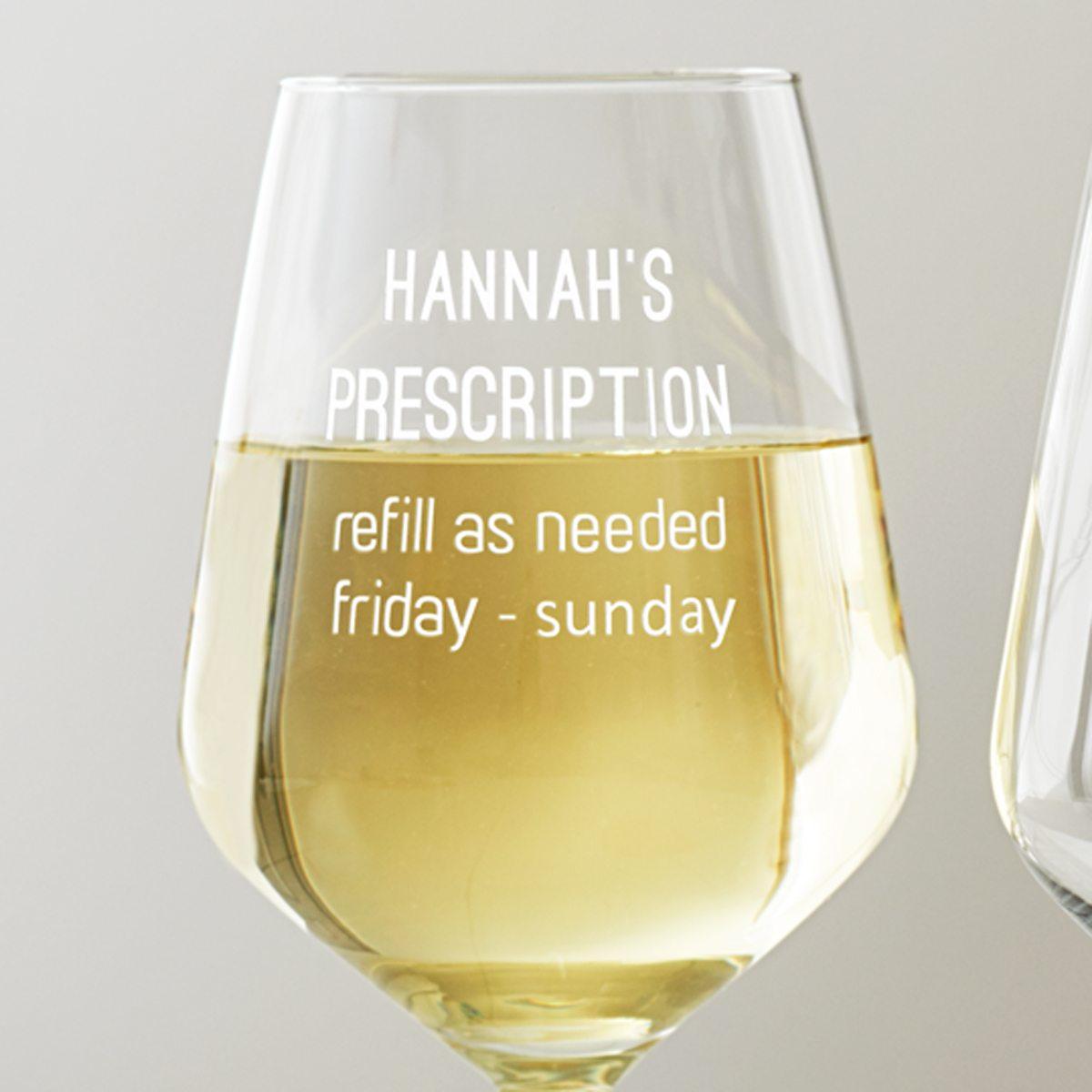 Personalised Prescription Wine Glass