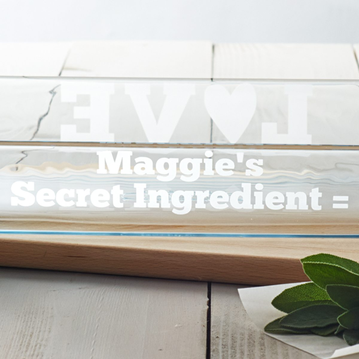 Personalised 'Secret Ingredient' Glass Dish