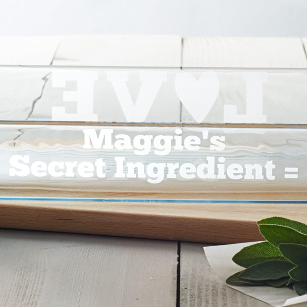 Personalised 'Secret Ingredient' Glass Dish