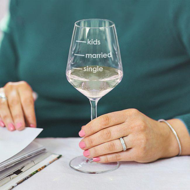 Single Married Kids Wine Glass Lifestyle