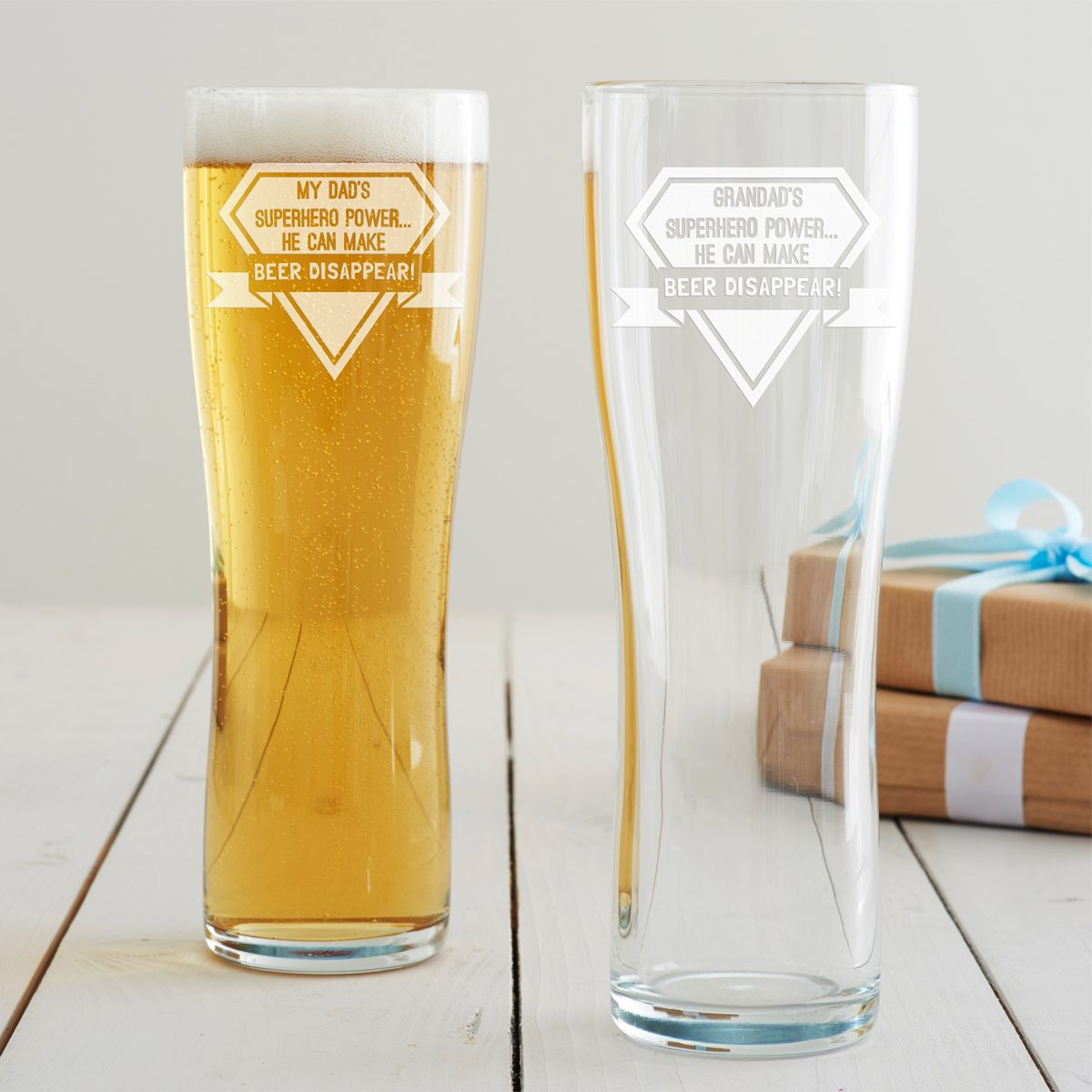 Personalised Superhero Pint Glass