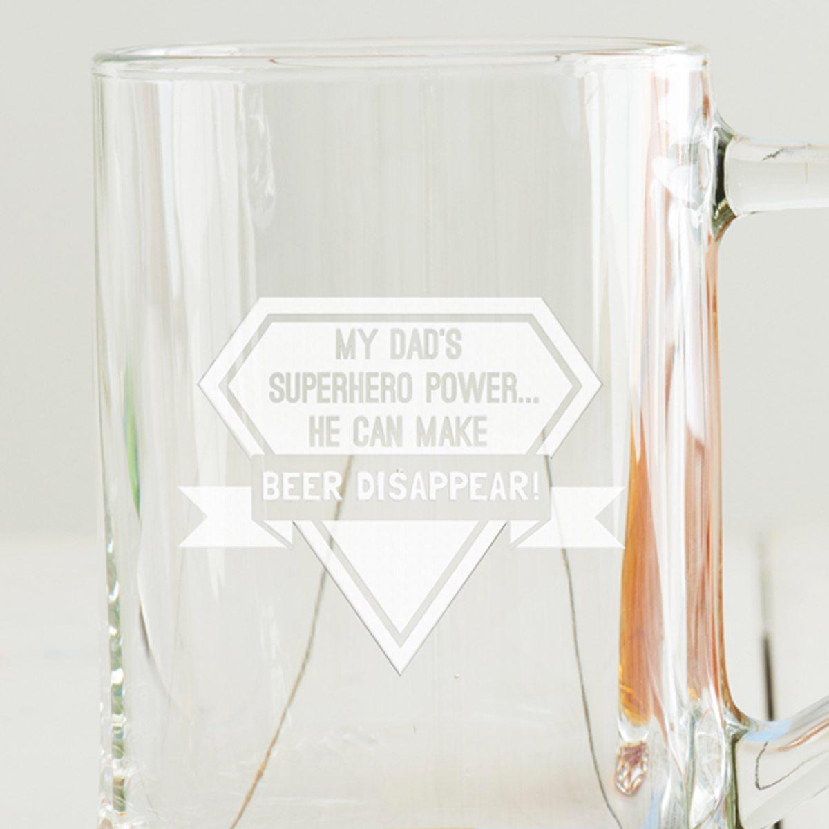 Personalised Superhero Beer Tankard