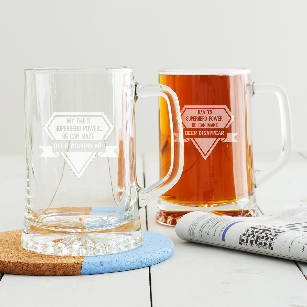 Personalised Superhero Beer Tankard