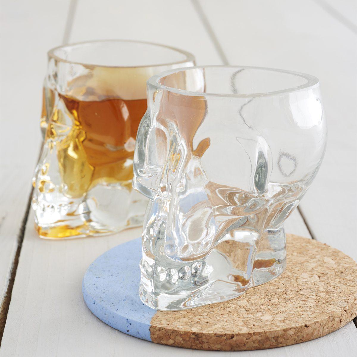 Tiki Skull Shot Glass