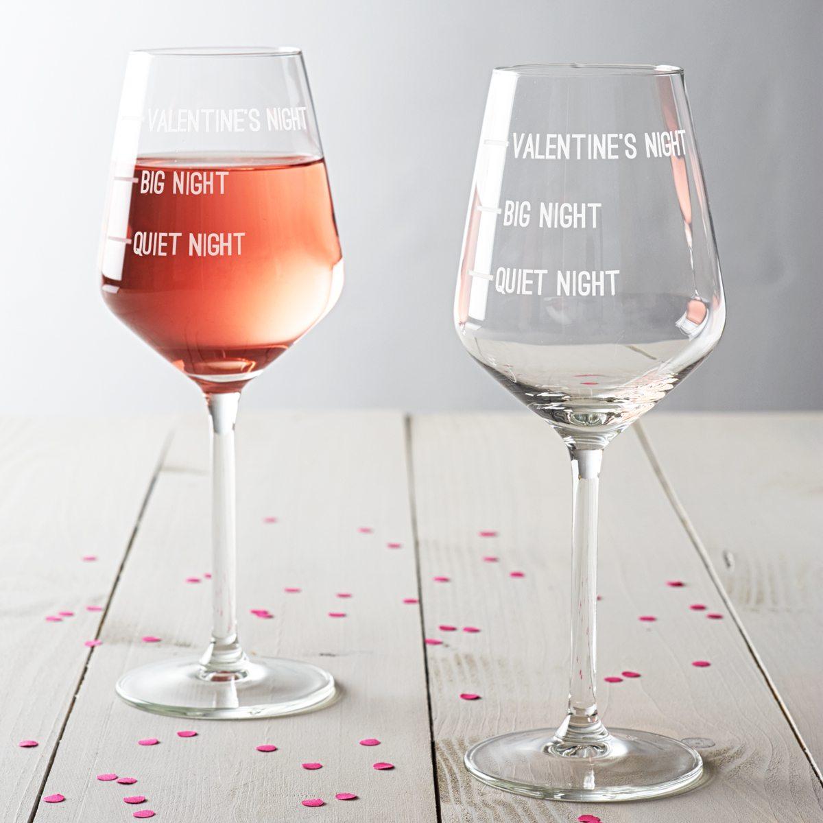 Valentine's Night Wine Glass