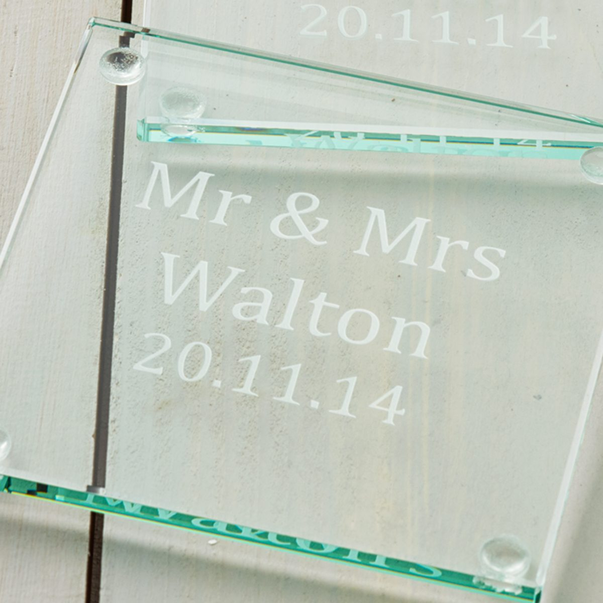 Personalised Wedding Gift Coaster Set