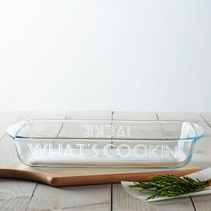 Personalised 'What's Cookin'' Glass Dish