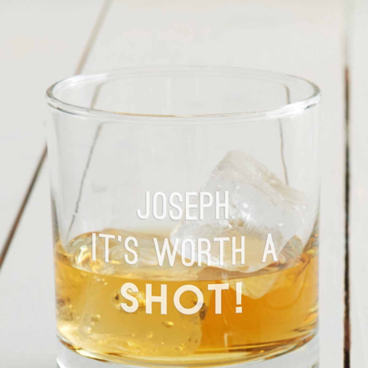 Personalised 'Worth A Shot' Glass
