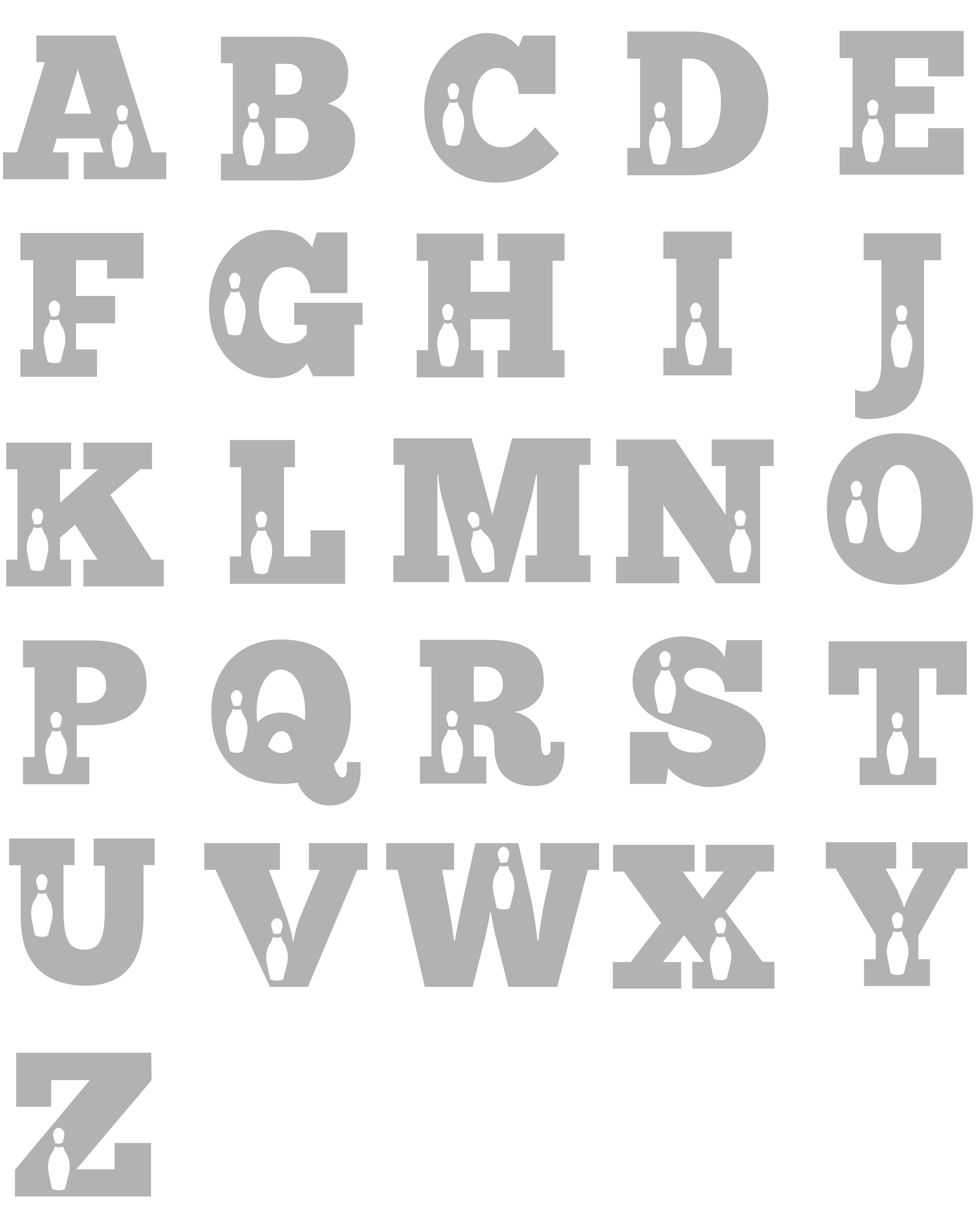 Bowling Alphabet