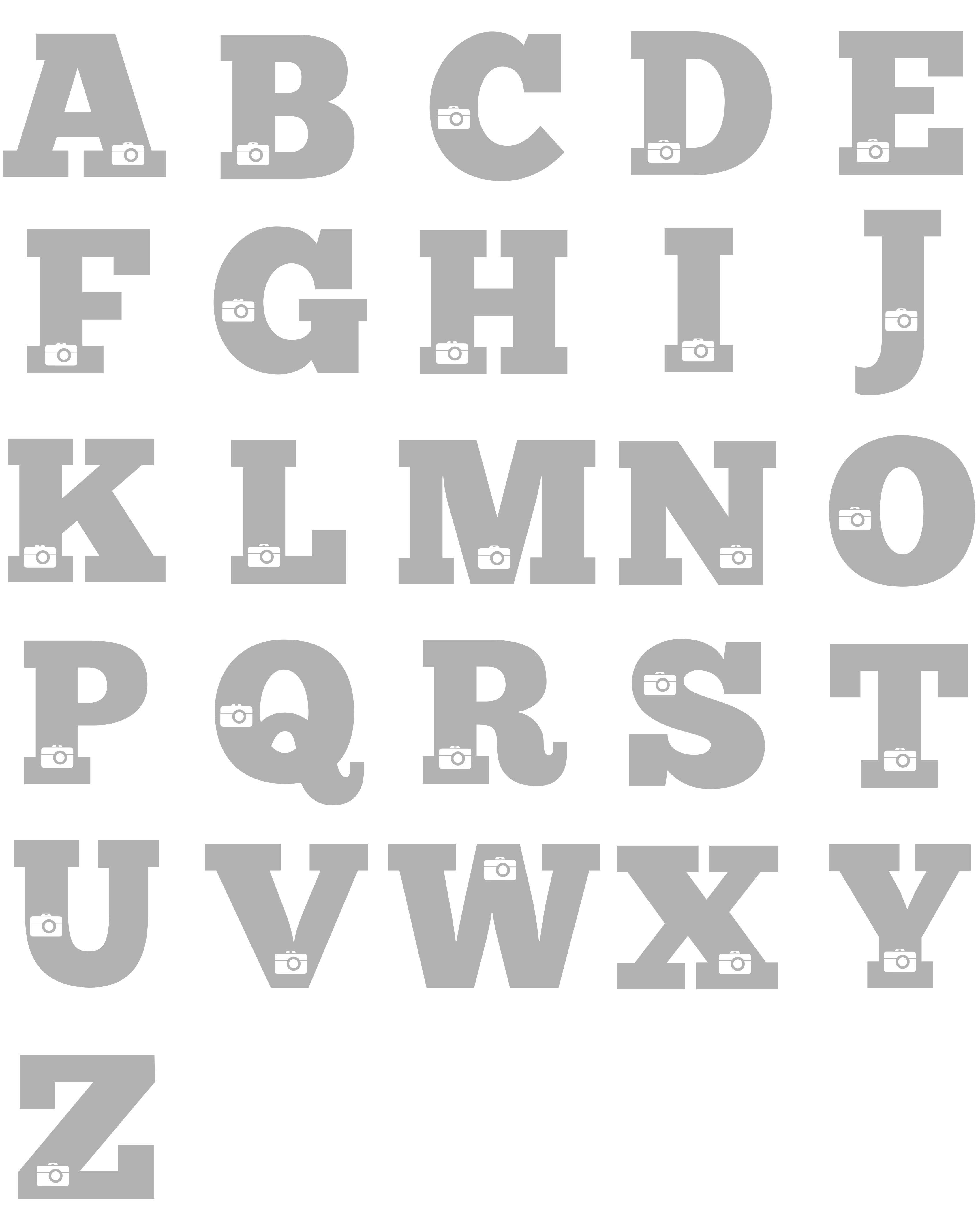 Camera Alphabet
