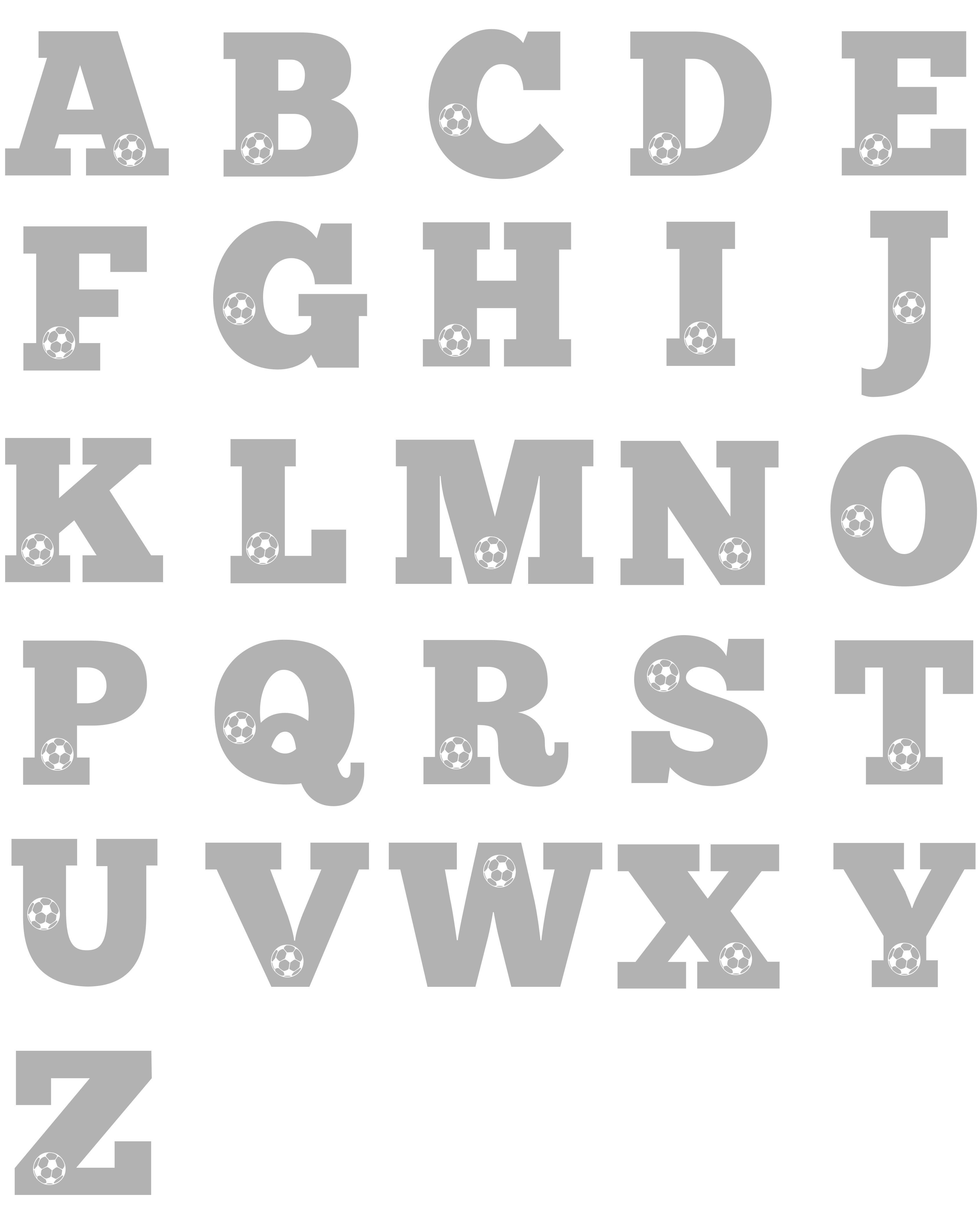 Football Alphabet