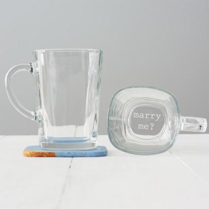 Marry Me Glass Mug