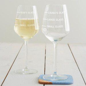 Personalised Drinks Measure Wine Glass