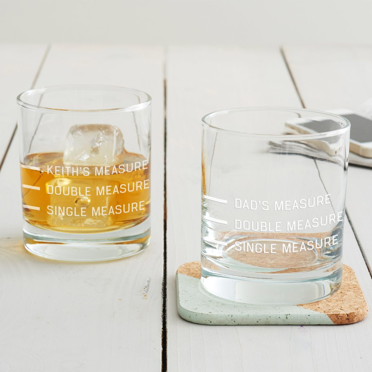 Personalised Drinks Measure Glass