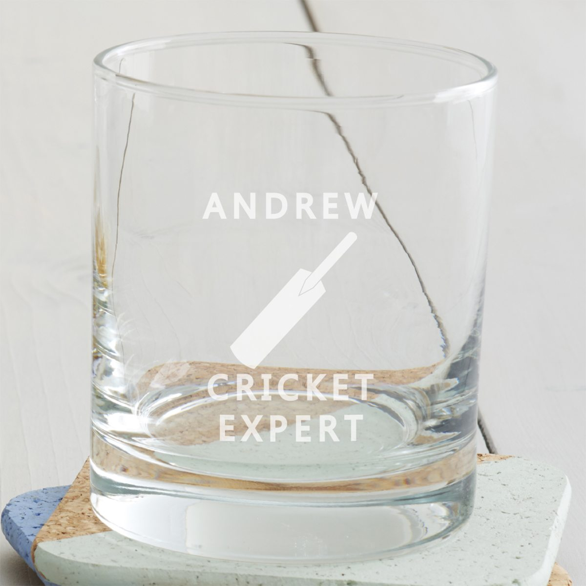 Personalised Cricket Tumbler Glass