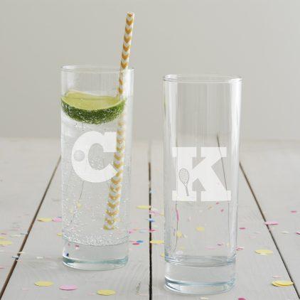 Personalised Hobby Monogram Hi Ball Glass