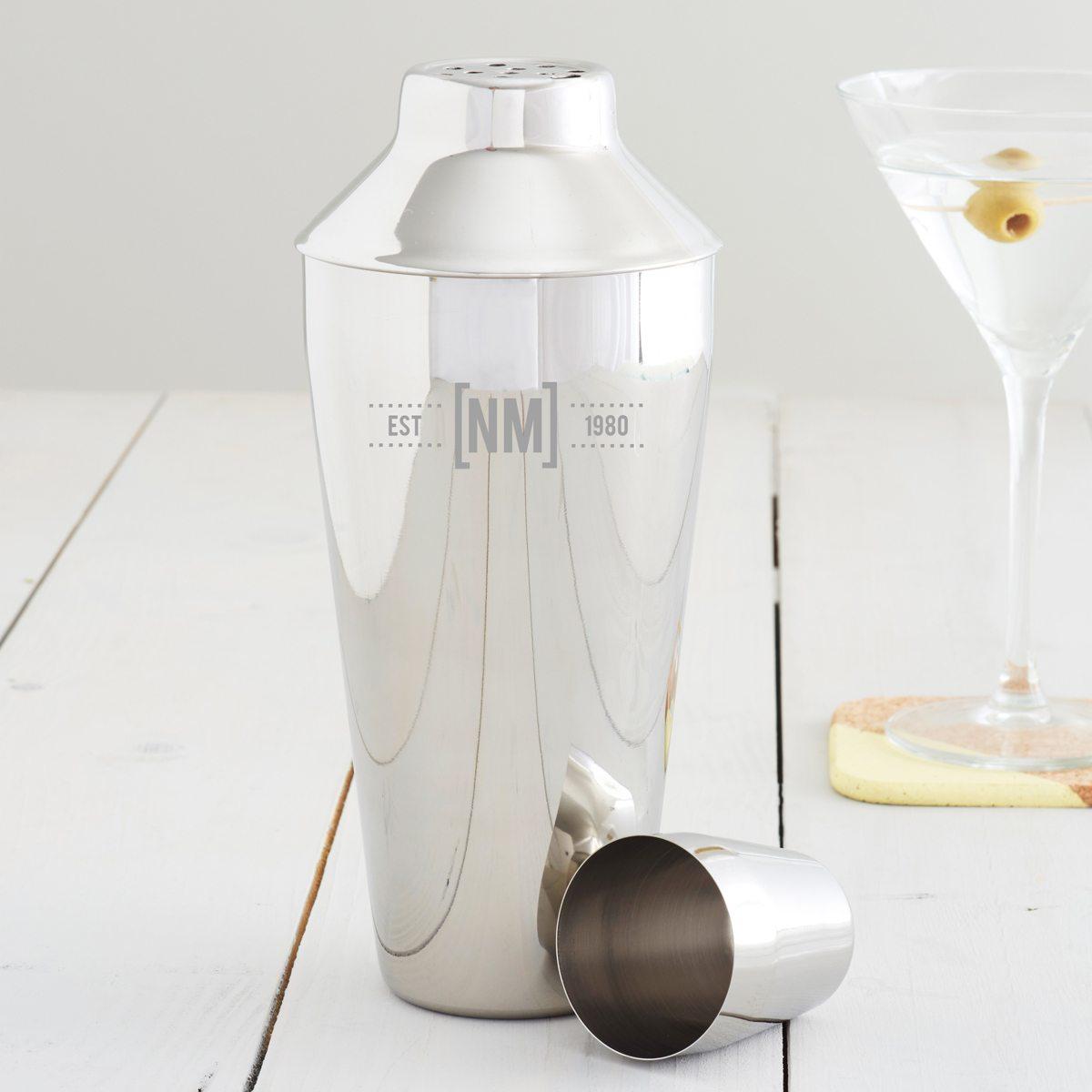 Personalised Initials Monogram Cocktail Shaker