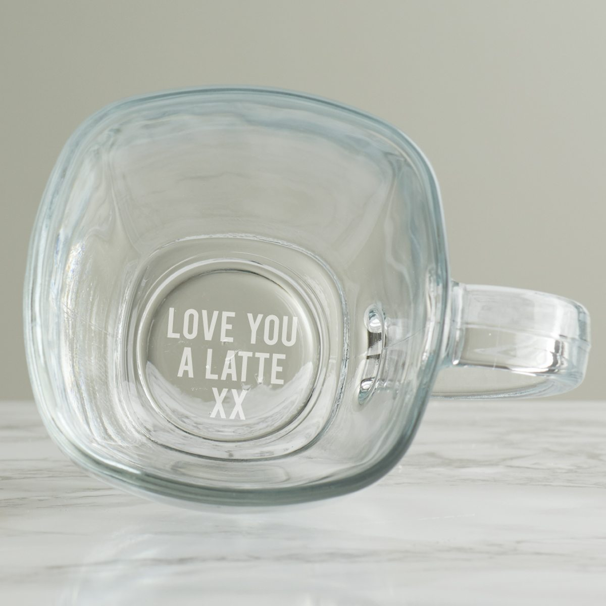 Personalised 'Love You A Latte' Mug