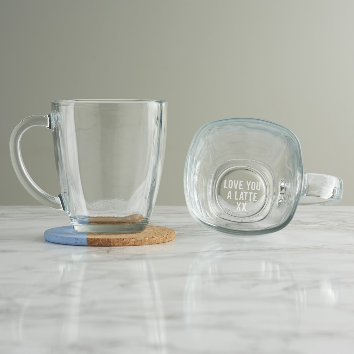 Personalised 'Love You A Latte' Mug