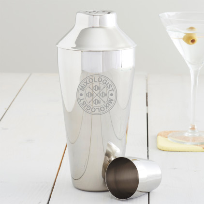 Personalised Mixologist Monogram Cocktail Shaker